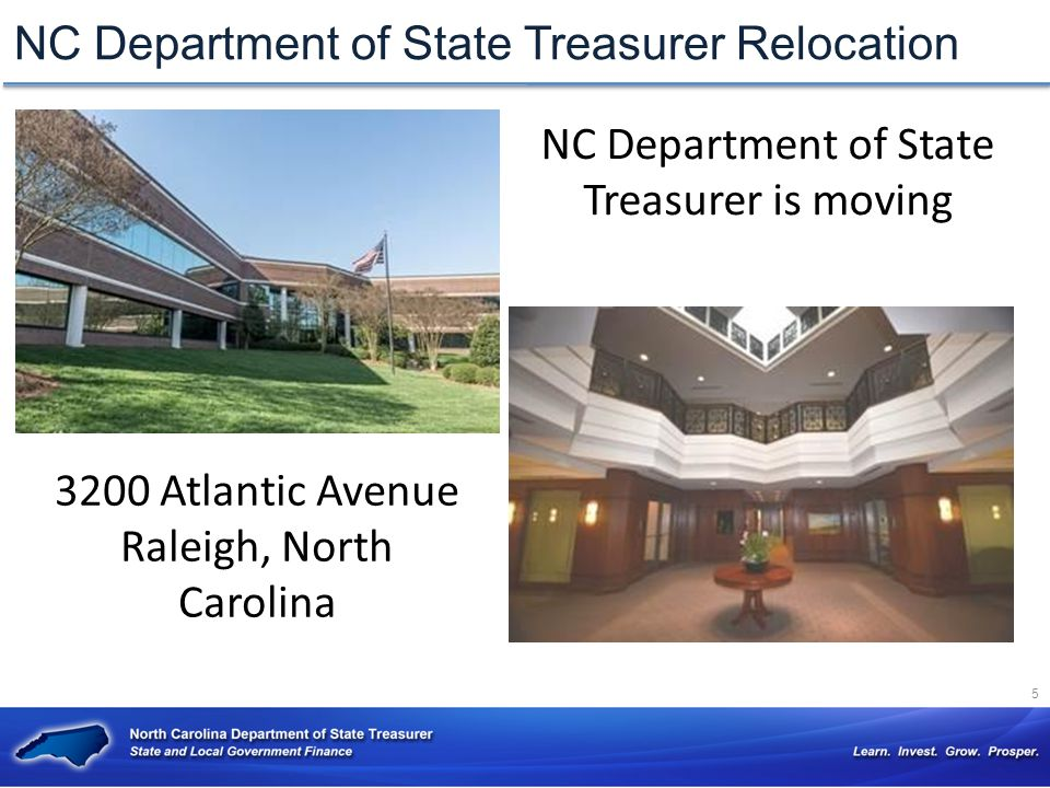 NC Department of State Treasurer Relocation
