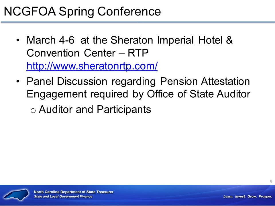 NCGFOA Spring Conference