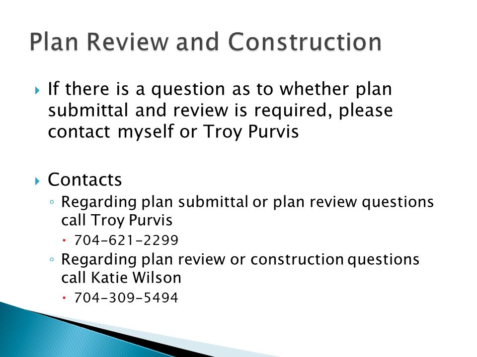 Plan Review and Construction