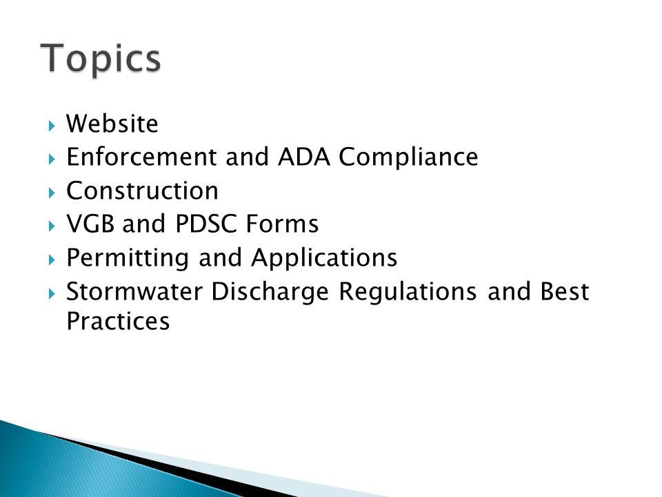 Topics Website Enforcement and ADA Compliance Construction