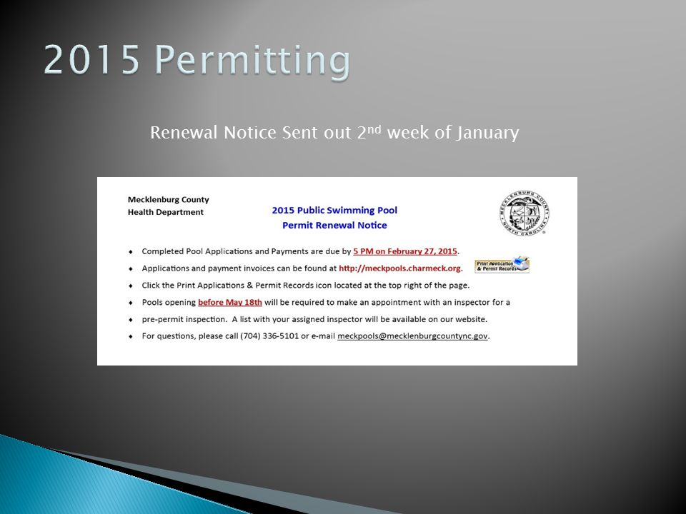 Renewal Notice Sent out 2nd week of January