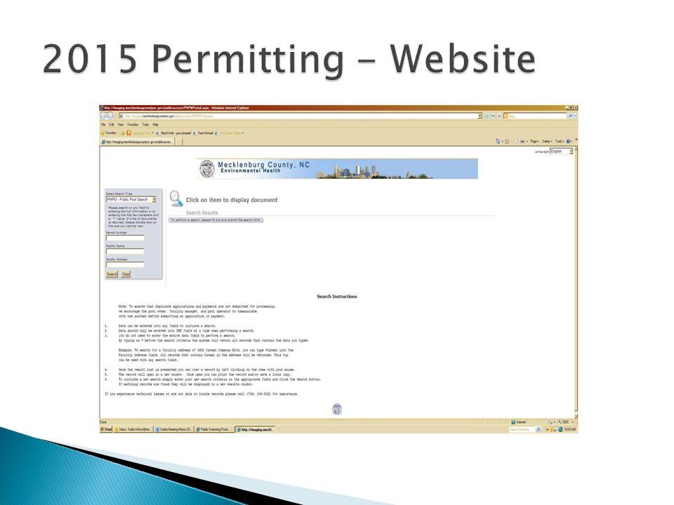 2015 Permitting - Website