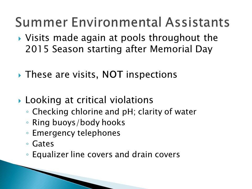 Summer Environmental Assistants