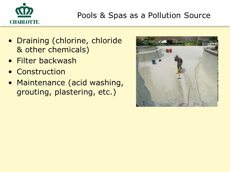Pools & Spas as a Pollution Source