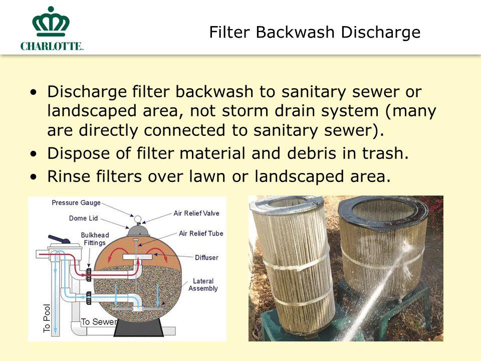 Filter Backwash Discharge