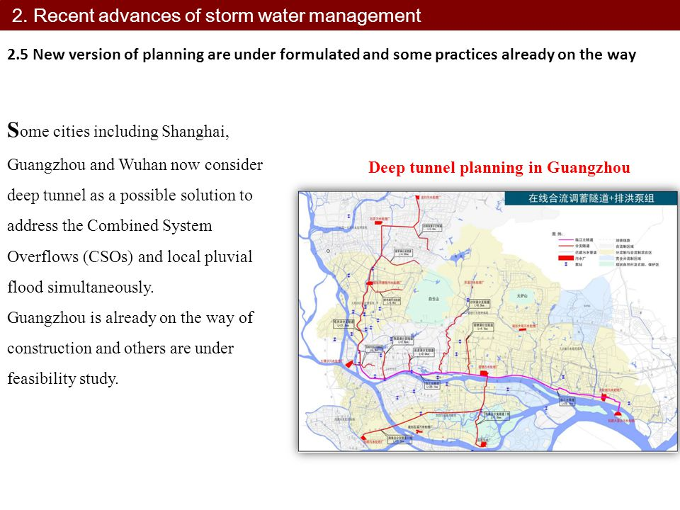 2. Recent advances of storm water management