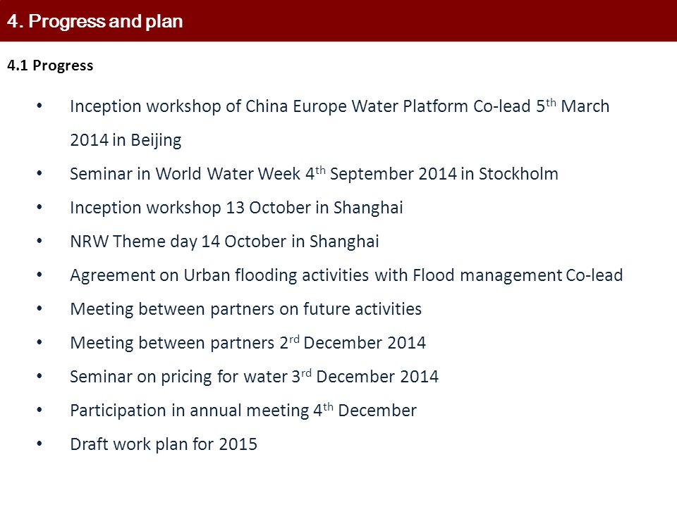 Seminar in World Water Week 4th September 2014 in Stockholm