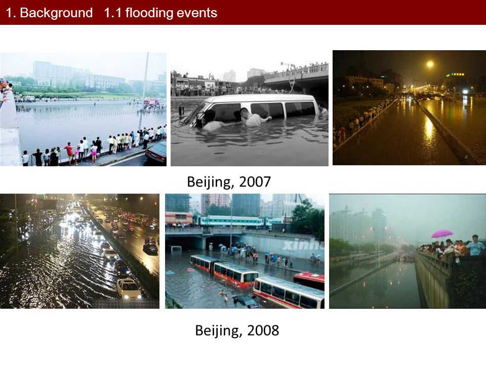 1. Background 1.1 flooding events
