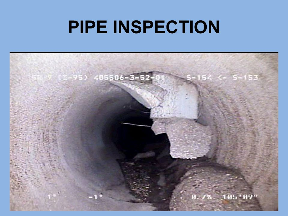 PIPE INSPECTION