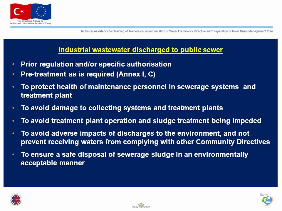 Industrial wastewater discharged to public sewer