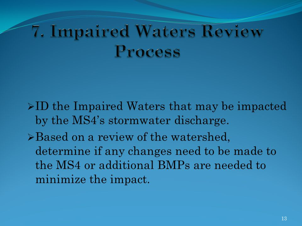7. Impaired Waters Review Process