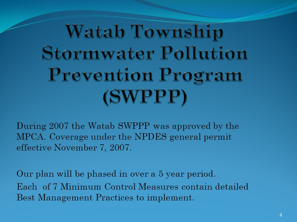 Watab Township Stormwater Pollution Prevention Program (SWPPP)