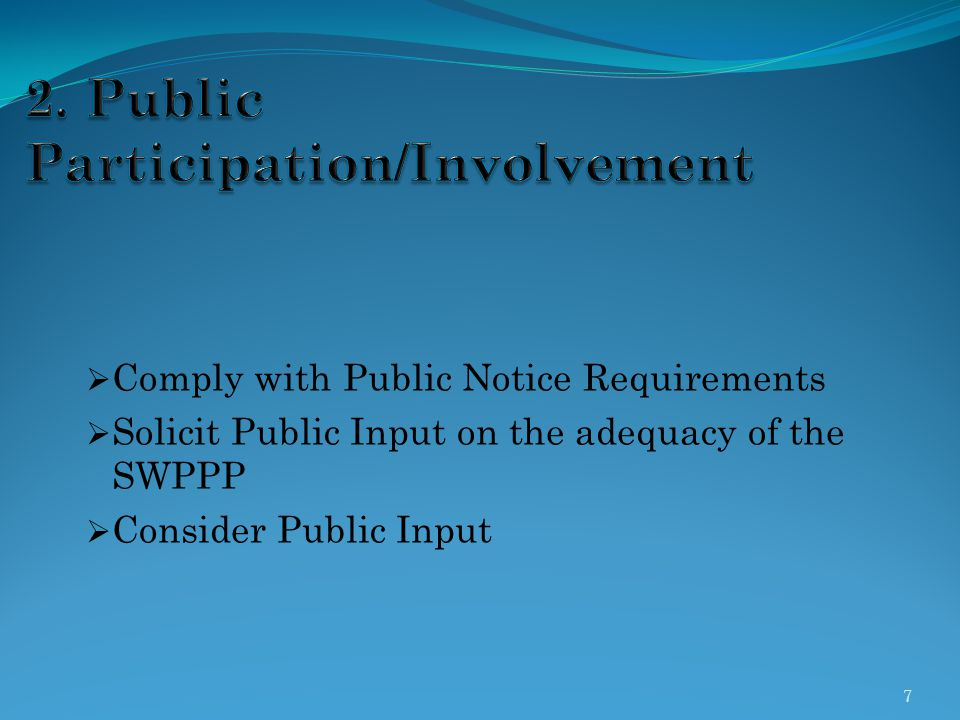 2. Public Participation/Involvement