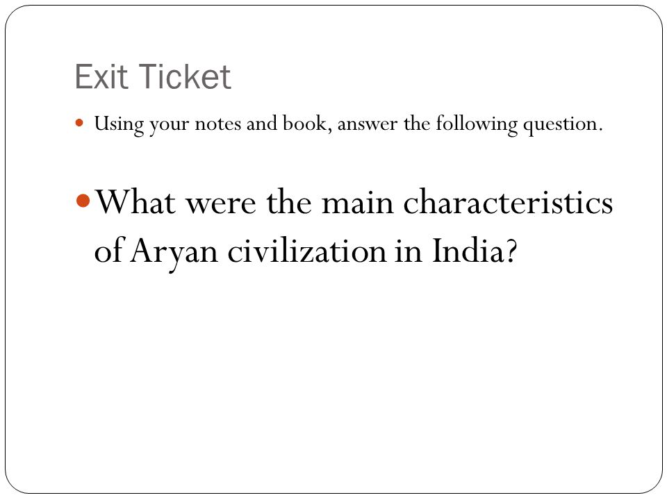 What were the main characteristics of Aryan civilization in India