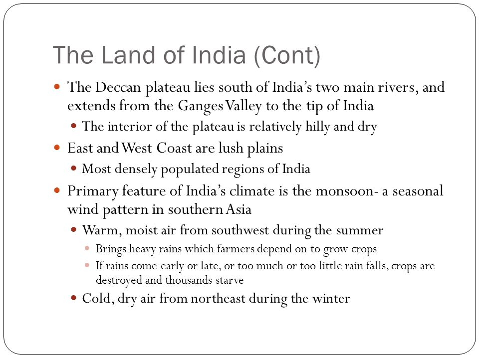 The Land of India (Cont)