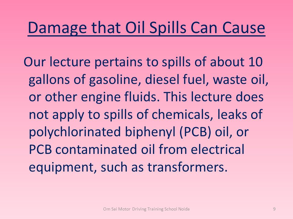 Damage that Oil Spills Can Cause