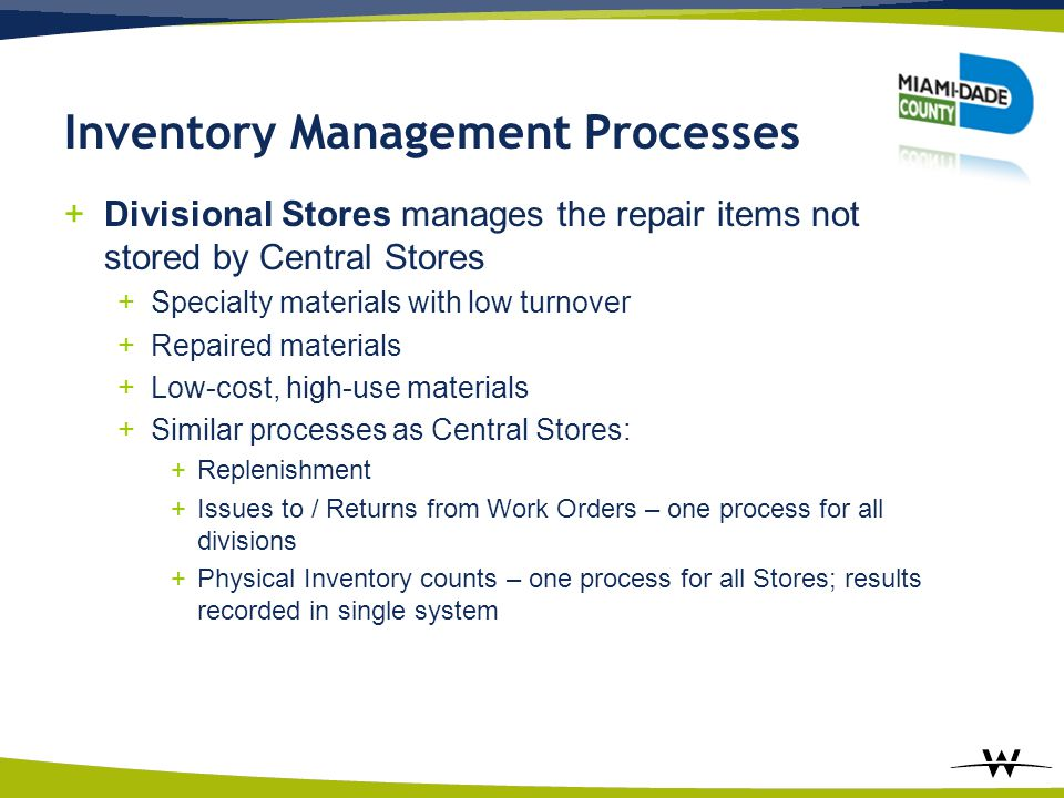Inventory Management Processes