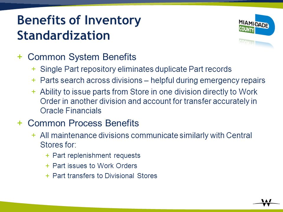Benefits of Inventory Standardization