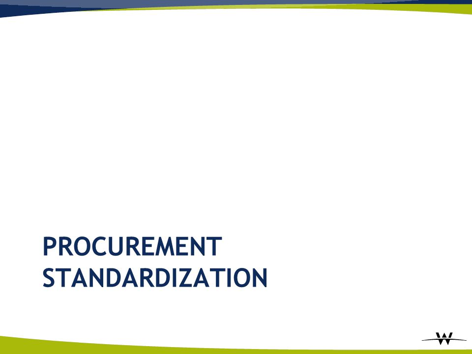 Procurement Standardization