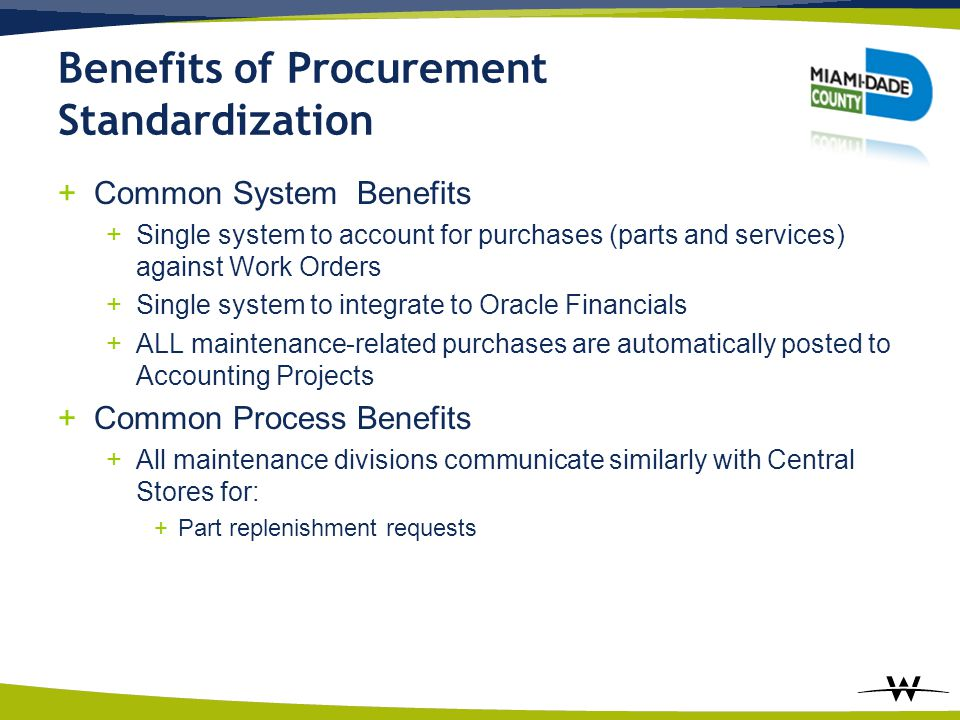 Benefits of Procurement Standardization
