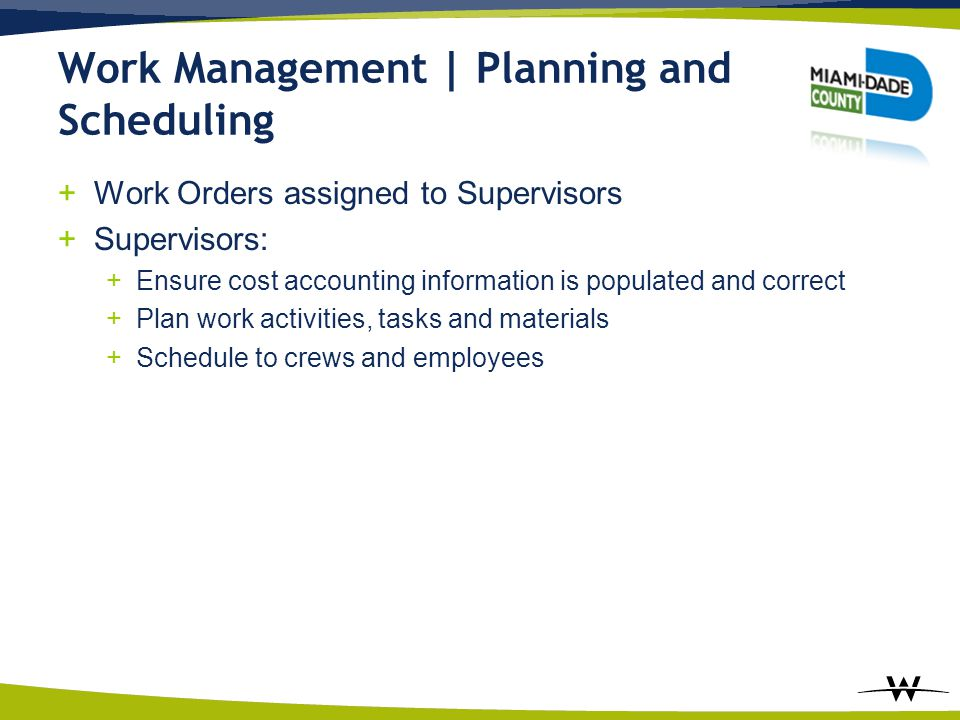 Work Management | Planning and Scheduling