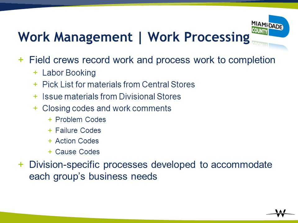 Work Management | Work Processing