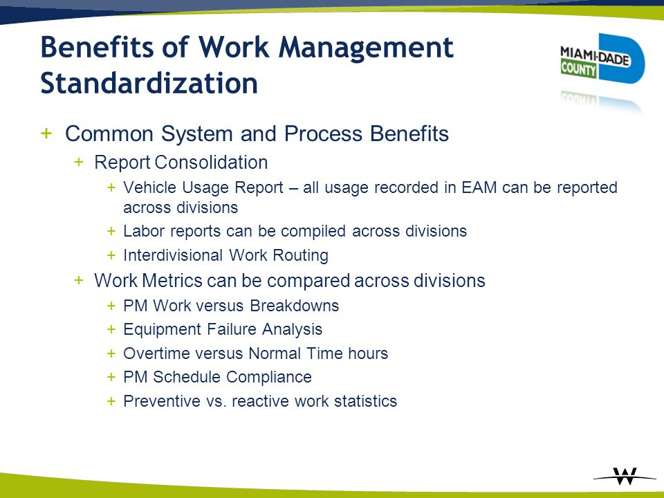 Benefits of Work Management Standardization