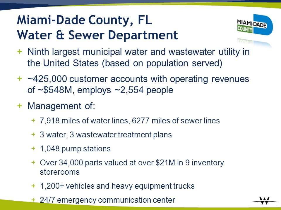 Miami-Dade County, FL Water & Sewer Department
