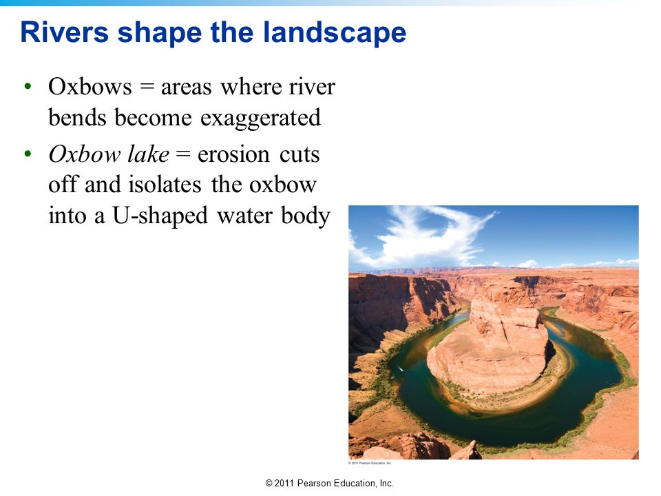 Rivers shape the landscape