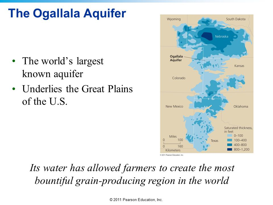 The Ogallala Aquifer The world's largest known aquifer