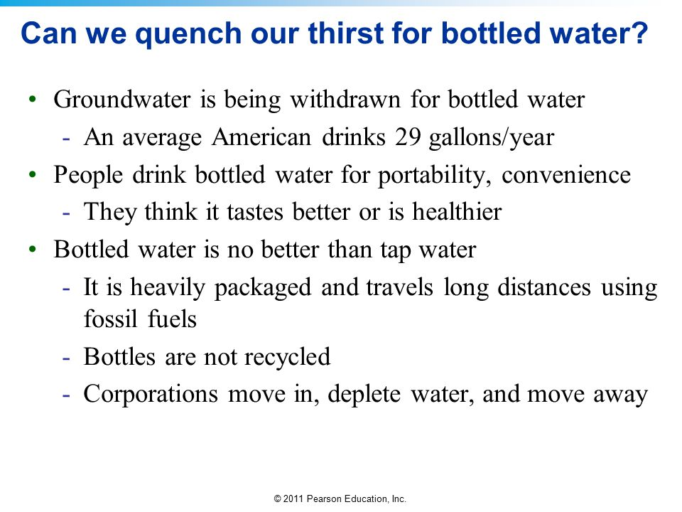 Can we quench our thirst for bottled water