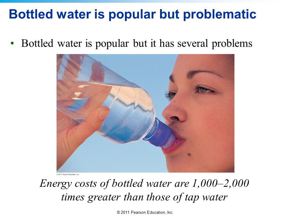 Bottled water is popular but problematic