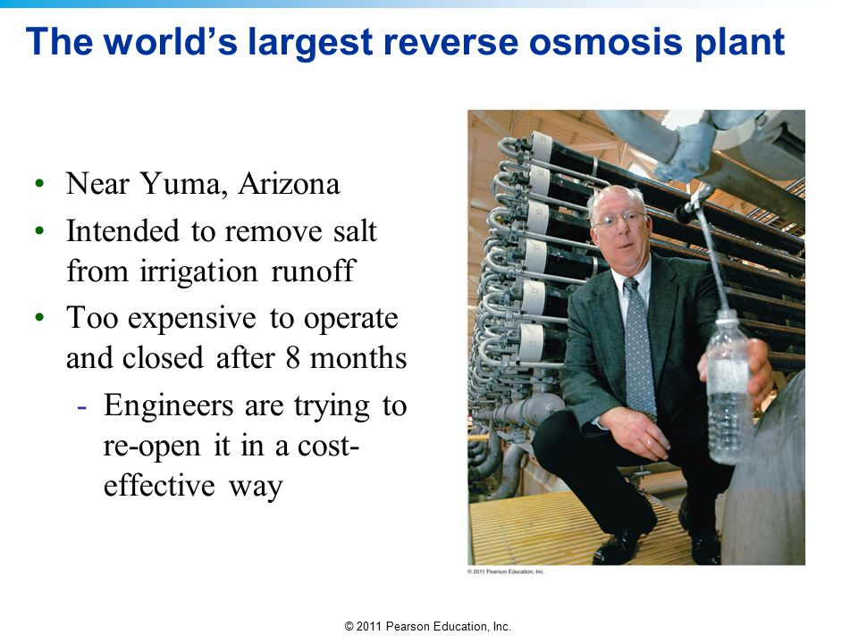 The world's largest reverse osmosis plant