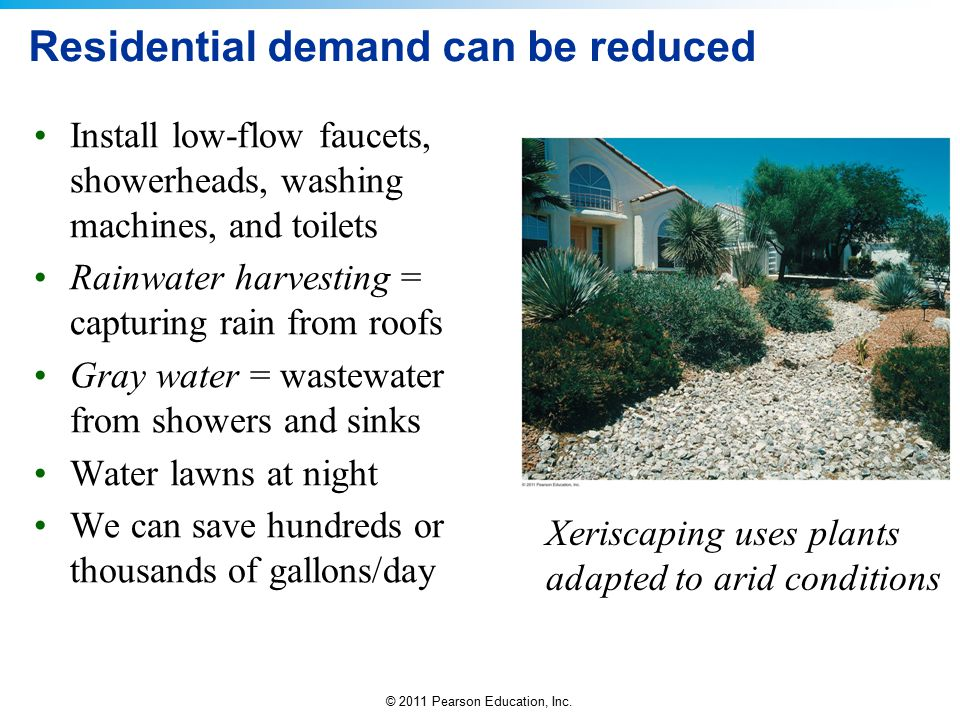 Residential demand can be reduced