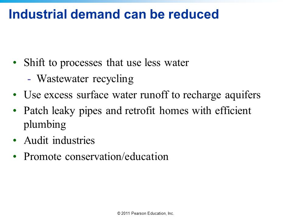 Industrial demand can be reduced