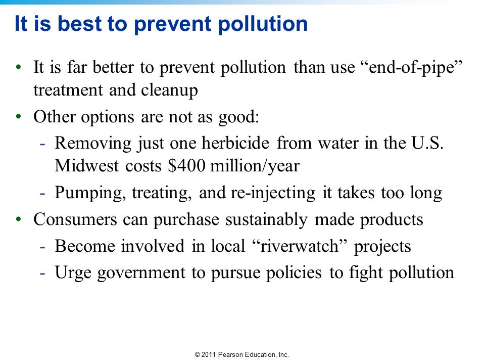 It is best to prevent pollution