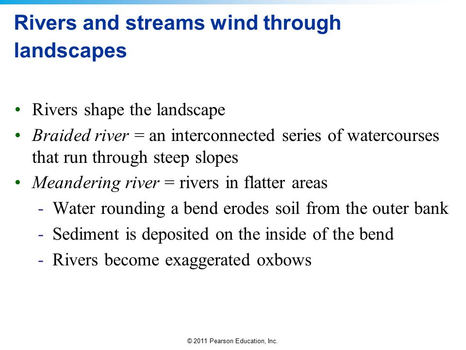 Rivers and streams wind through landscapes
