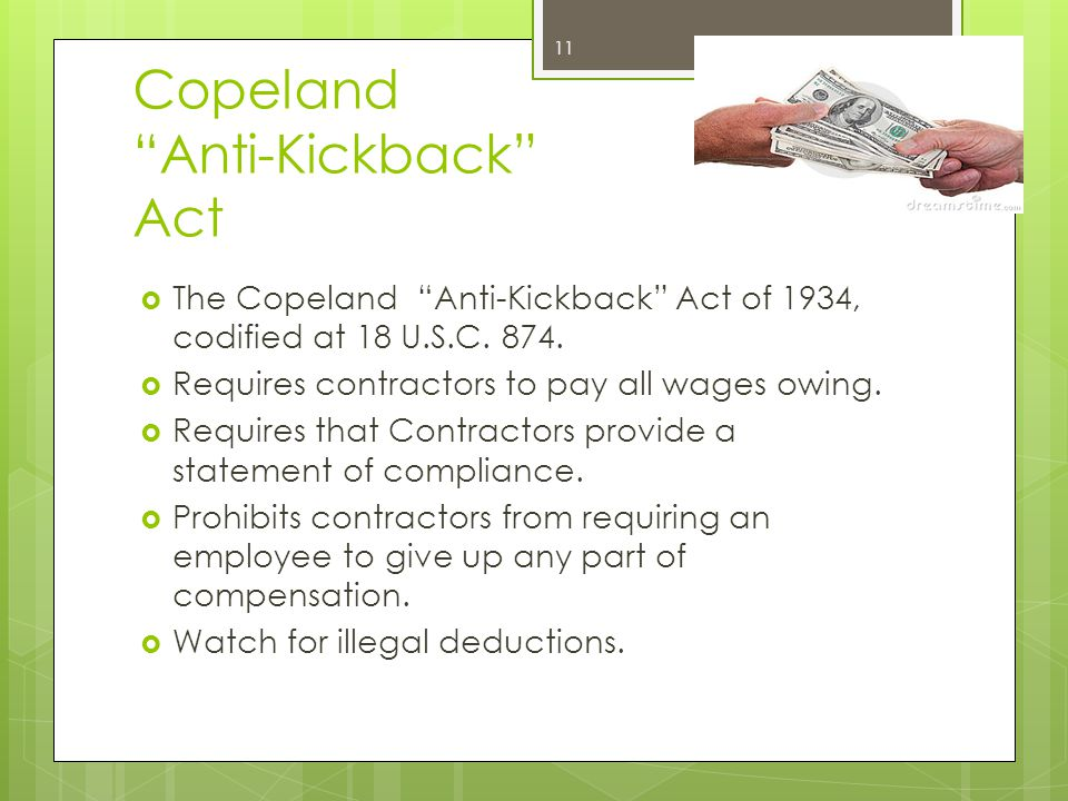Copeland Anti-Kickback Act