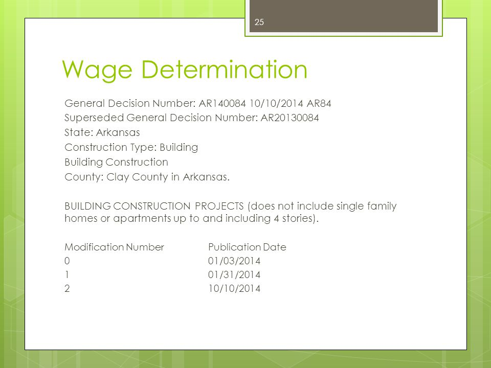 Wage Determination General Decision Number: AR140084 10/10/2014 AR84