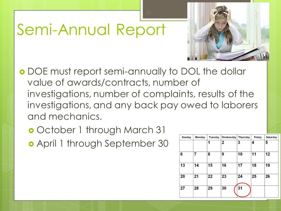 Semi-Annual Report