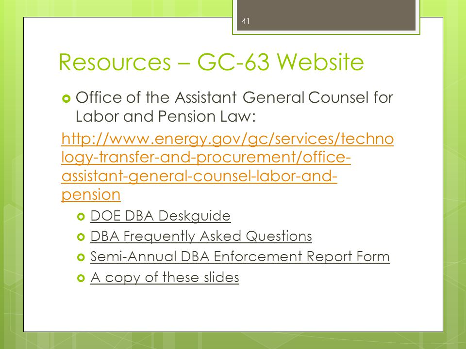 Resources – GC-63 Website