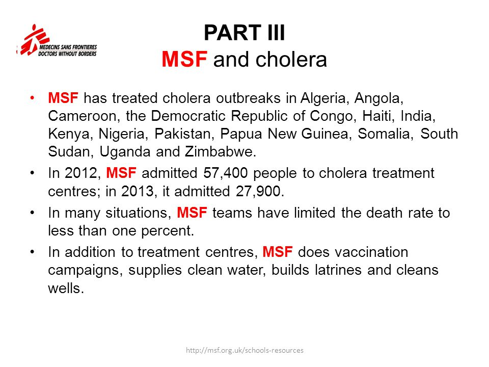 PART III MSF and cholera
