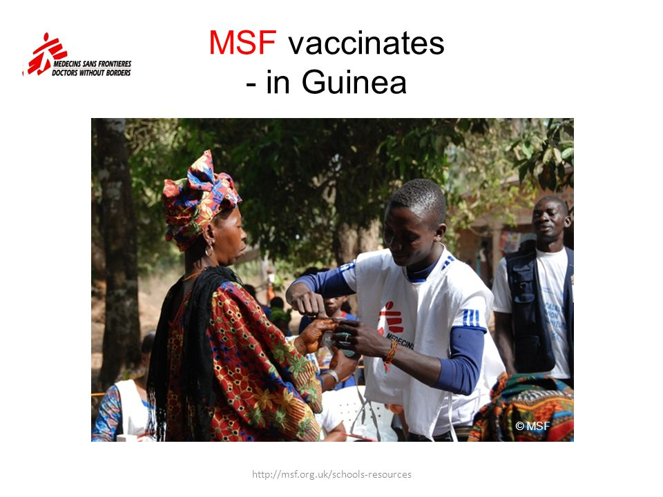 MSF vaccinates - in Guinea
