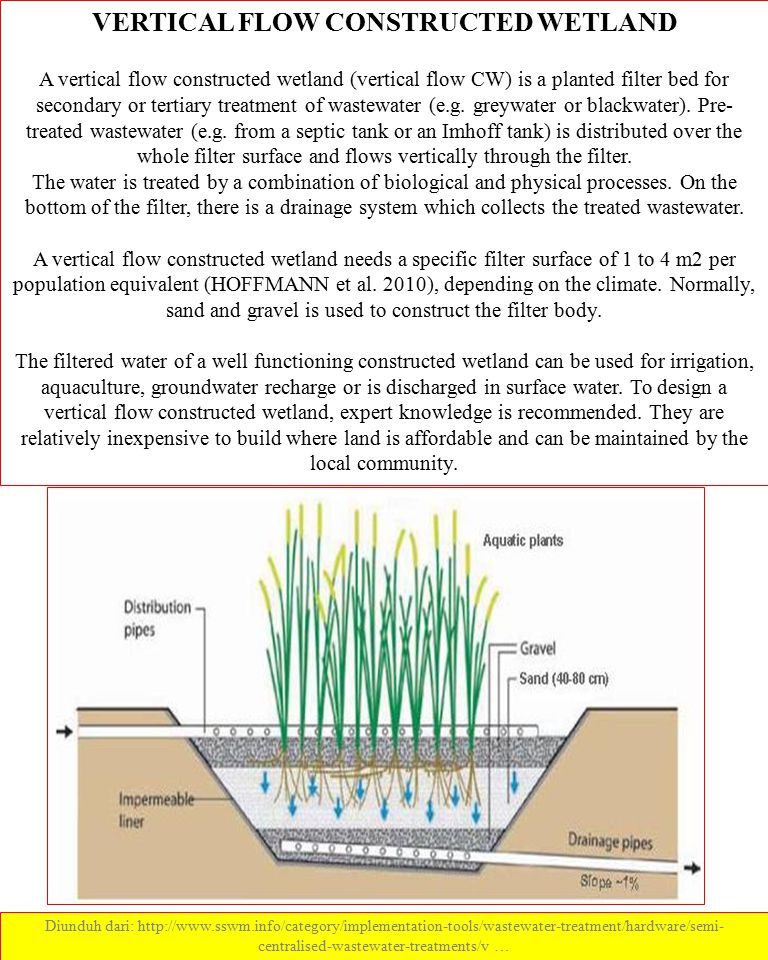 VERTICAL FLOW CONSTRUCTED WETLAND