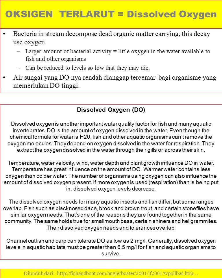 OKSIGEN TERLARUT = Dissolved Oxygen