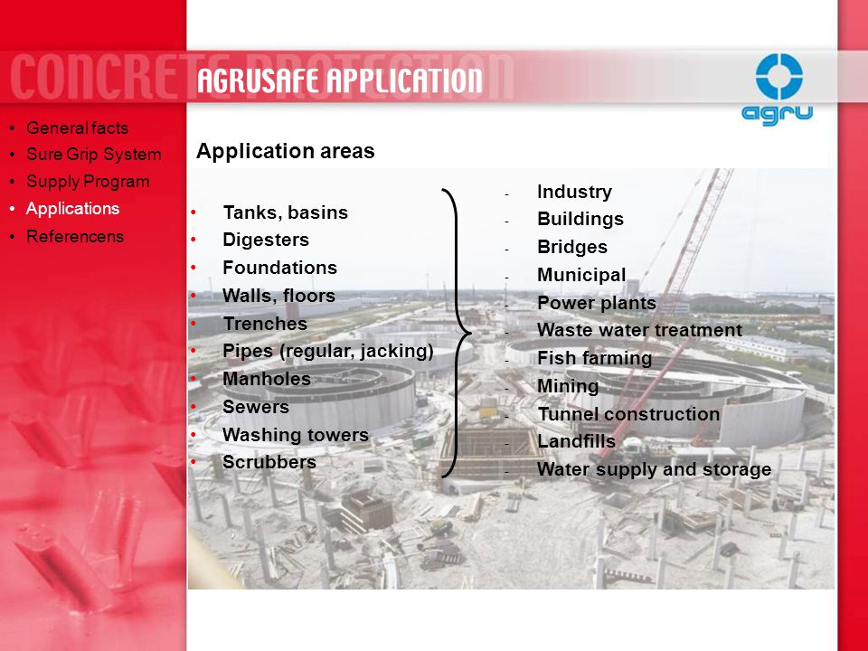 AGRUSAFE APPLICATION Application areas Industry Buildings