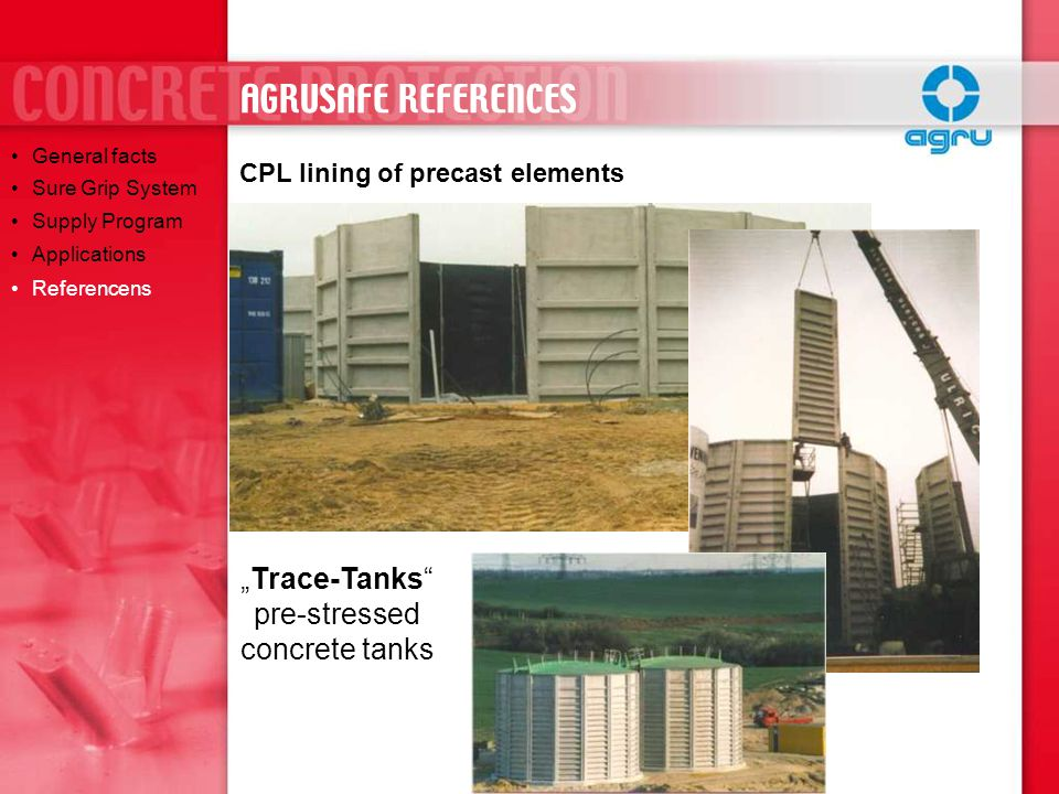 """Trace-Tanks pre-stressed concrete tanks"