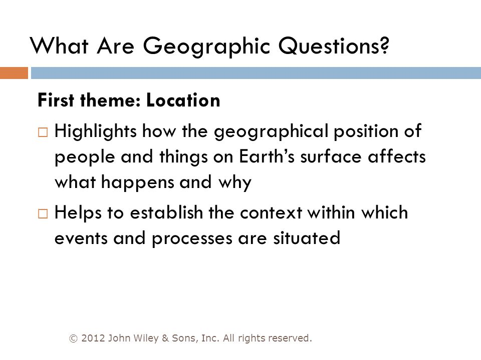 What Are Geographic Questions