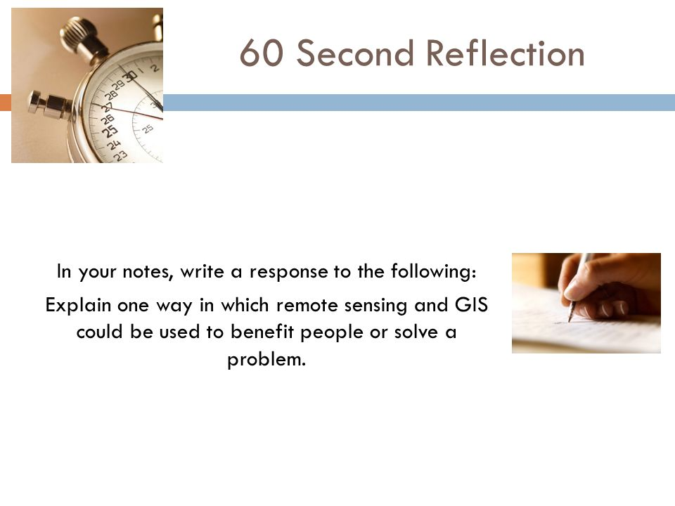 60 Second Reflection