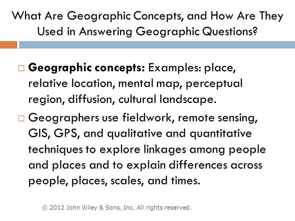 What Are Geographic Concepts, and How Are They Used in Answering Geographic Questions
